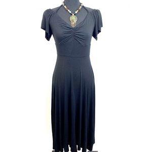 NWT Anthropologie Bailey 44 Black Maxi Dress Med